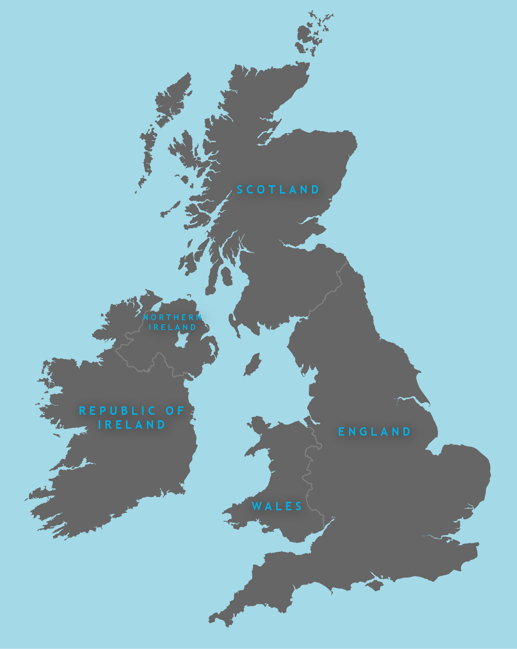 Simple Map Of Ireland.Outline Map Of Britain Royalty Free Editable Vector Map Maproom