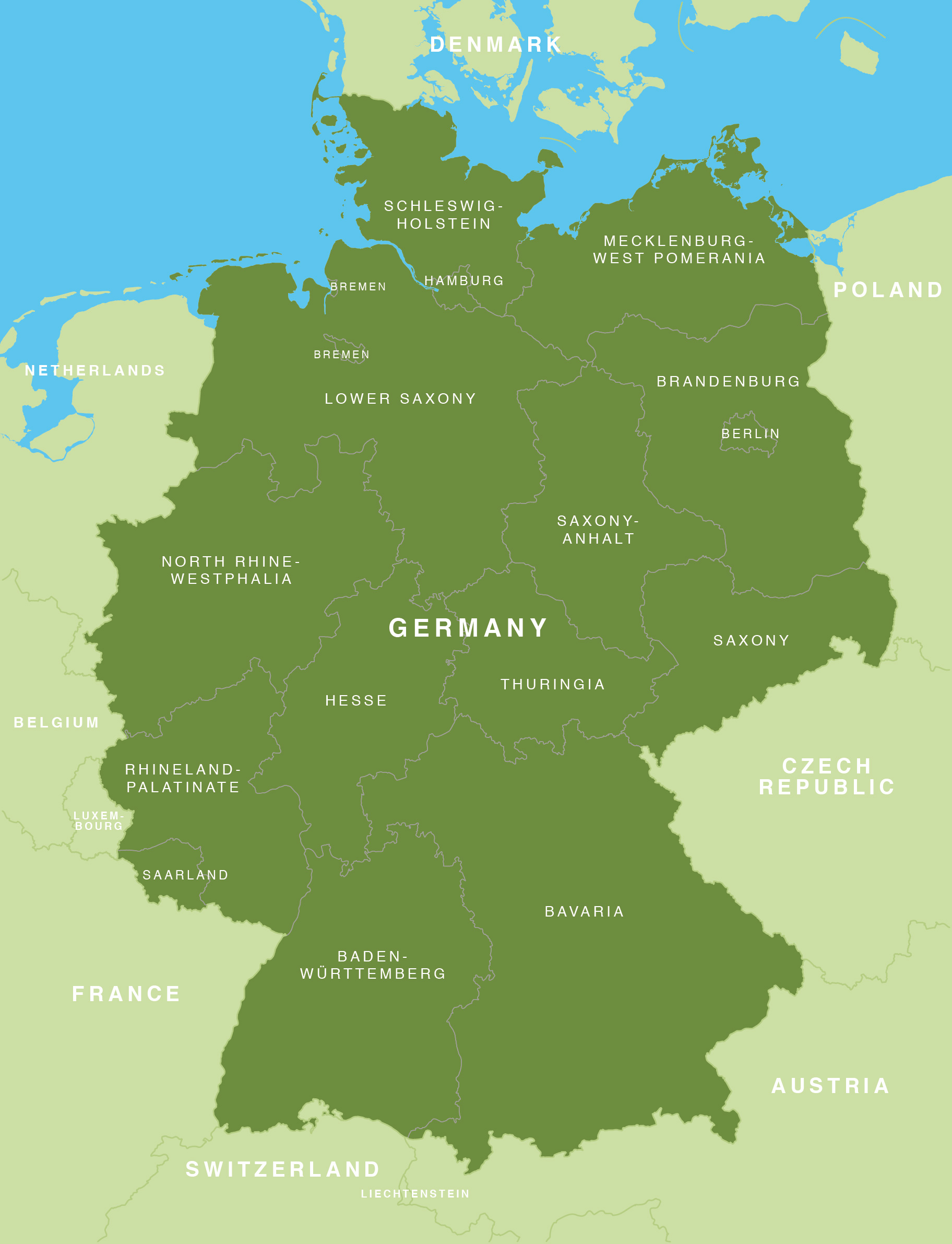 Map of Germany - German states / Bundesländer - Maproom